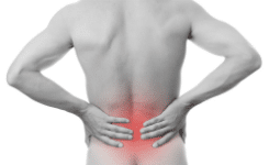 Lower central back pain